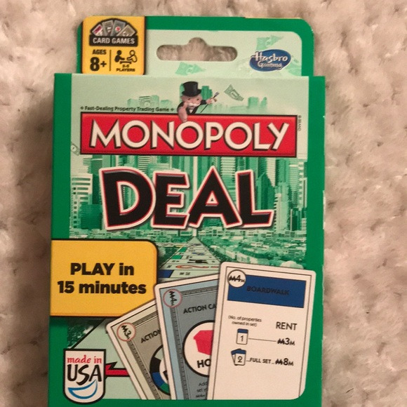 Hasbro Other New Monopoly Deal Card Game Poshmark
